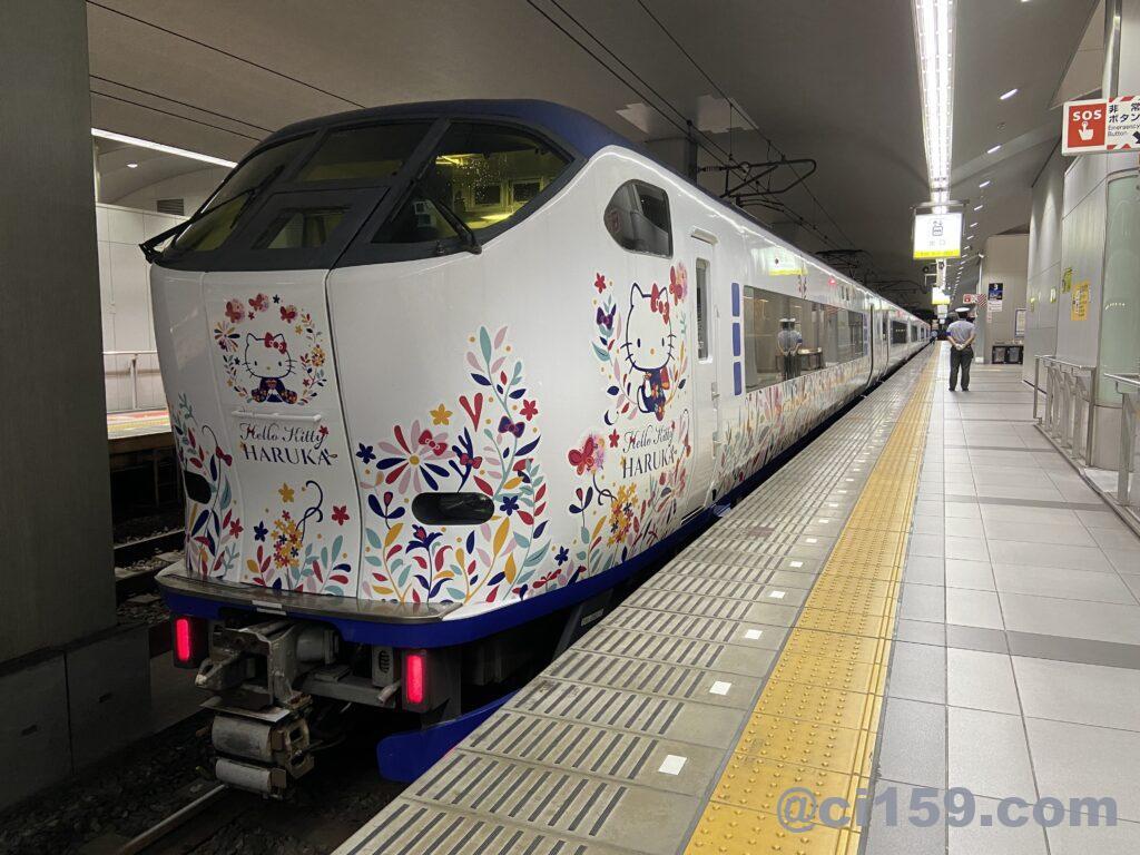 関西空港駅に停車中の特急はるか
