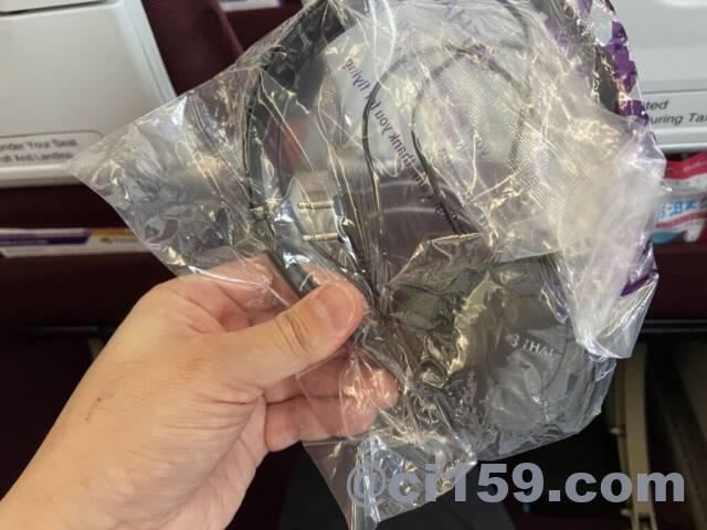 タイ国際航空のヘッドフォン