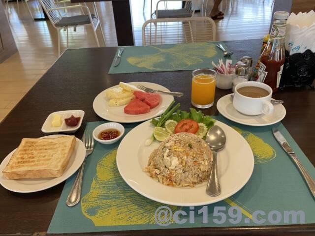 アレカロッジホテルの朝食