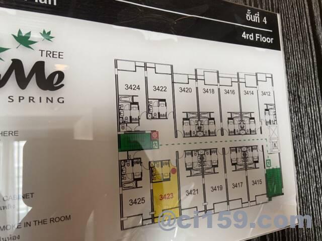 シーミースプリングツリーホテルのフロアマップ