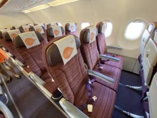 タイスマイル航空の機内